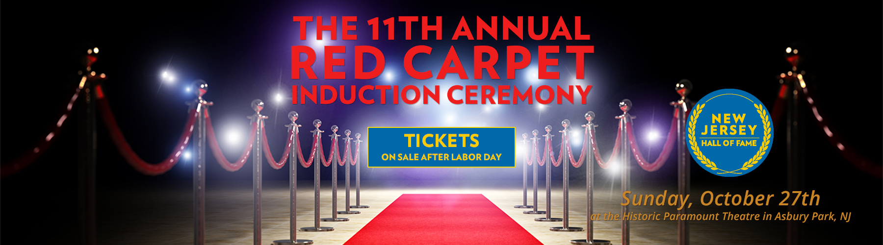 NJHOF Red Carpet Induction Tickets Available After Labor Day