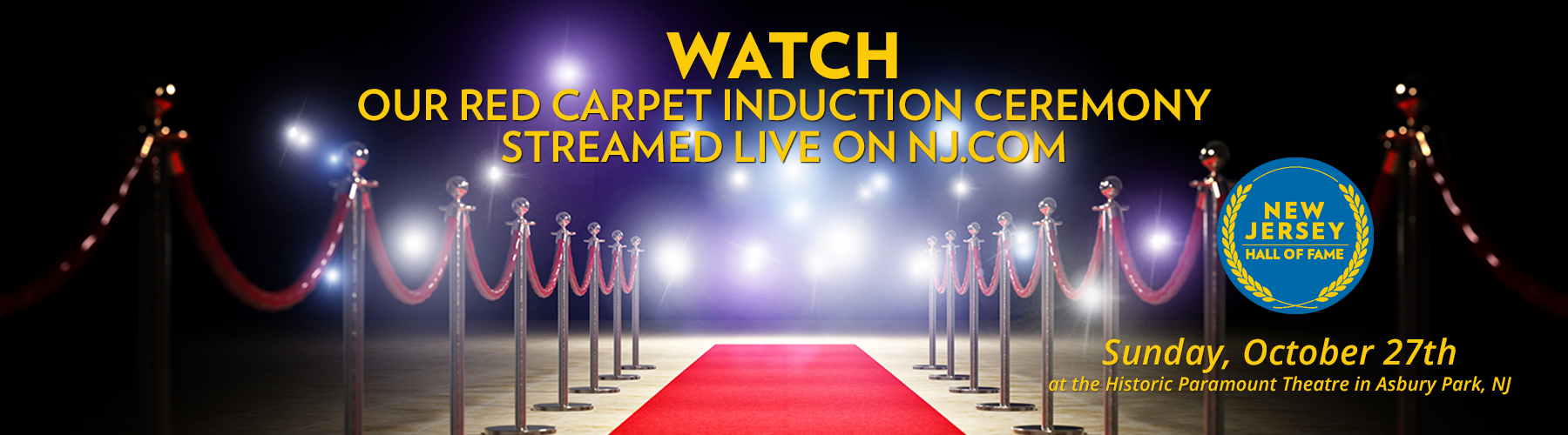 Watch the NJHOF's 11th Annual Induction Ceremony Streamed Live on NJ.com